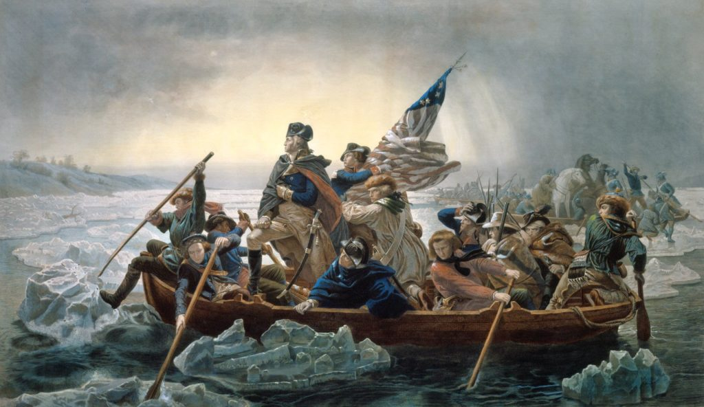 George Washington cruzó el Delaware